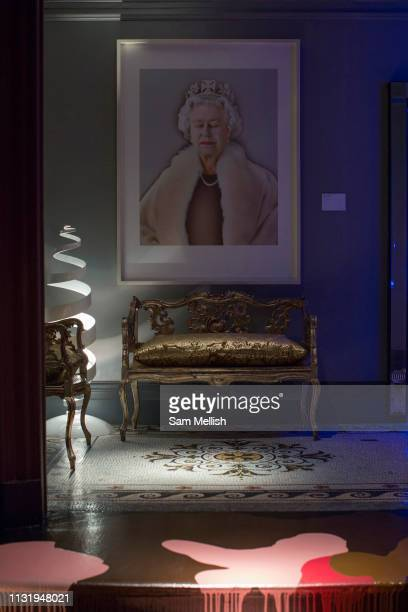 Chris Levine's 'Equanimity' portrait of The Queen at Sketch London on the 20th March 2019 in Mayfair London in the United Kingdom Chris Levine was...