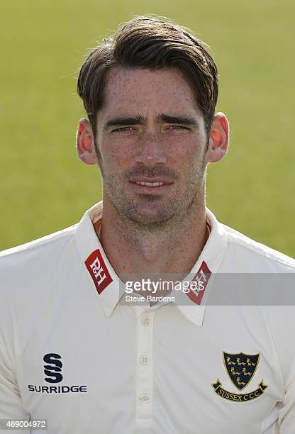 Chris Liddle during the Sussex County Cricket Photocall at BrightonandHoveJobs.com County Ground on April 9, 2015 in Hove, England.