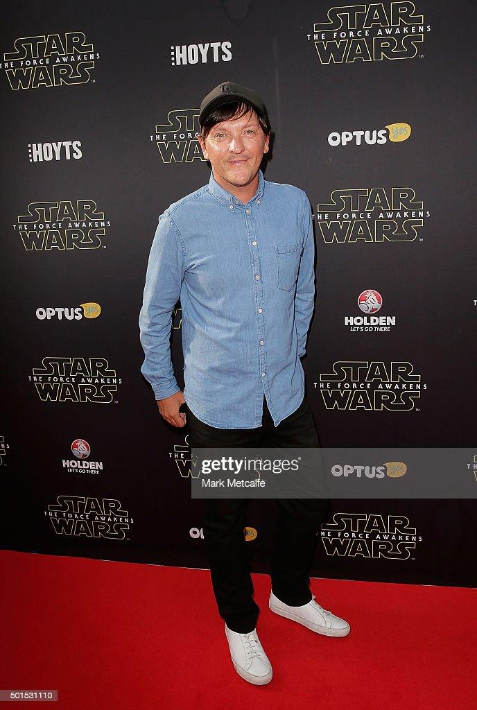 Chris Lilley arrives ahead of the 'Star Wars: The Force Awakens' Australian premiere on December 16, 2015 in Sydney, Australia.
