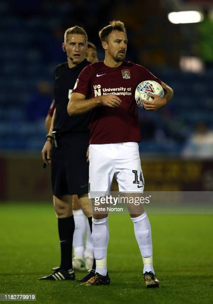 Chris Lines of Northampton Town in action during the Sky Bet League Two match between Carlisle United and Northampton Town at Brunton Park on October...
