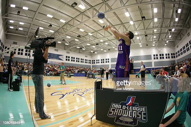 Chris Lofton of the Iowa Energy shoots the ball during the 3 Point Shooting Contest during the 2011 NBA DLeague Showcase Slam Dunk and 3 Point...