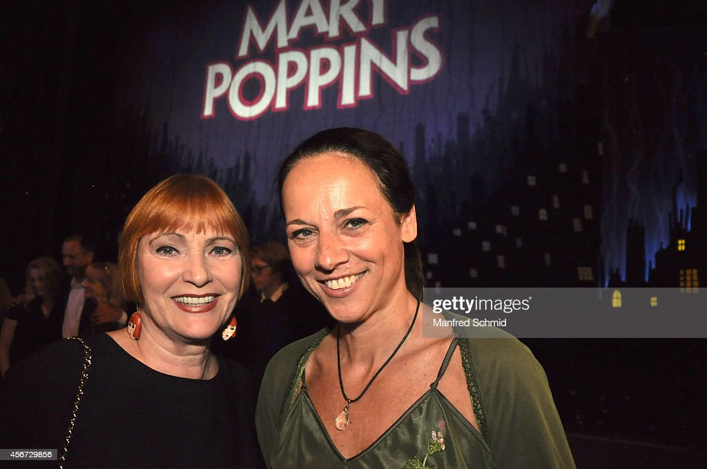 Chris Lohner (L) and Vera Russwurm attend the Mary Poppins musical premiere at Ronacher Theater on October 1, 2014 in Vienna, Austria.