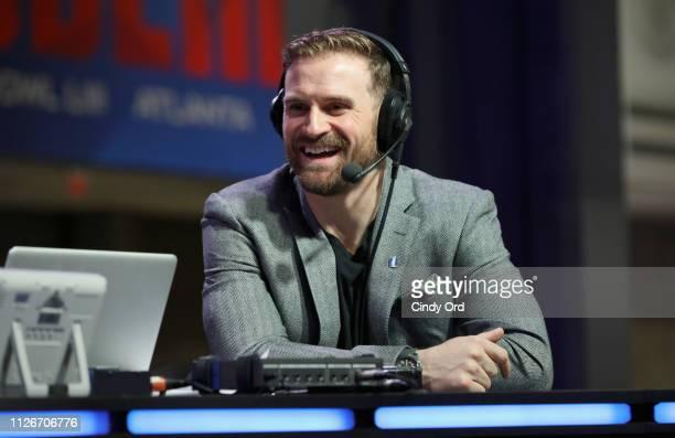 Chris Long attends SiriusXM at Super Bowl LIII Radio Row on February 01, 2019 in Atlanta, Georgia.