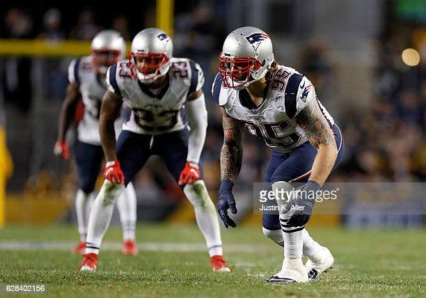 Chris Long of the New England Patriots in action against the Pittsburgh Steelers at Heinz Field on October 23 2016 in Pittsburgh Pennsylvania