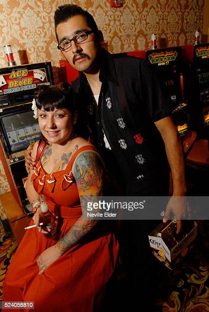 """Chris Lopez and Celeste Torrez from Stockton, CA. The Rockabilly Party Weekend April 5-8, 2007 held at The Gold Coast Hotel & Casino. """"Viva Las..."""