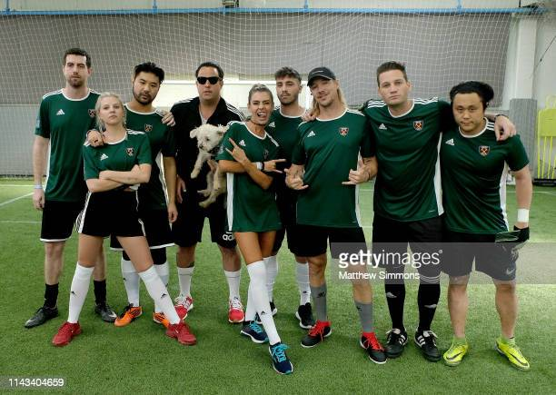 Chris LorenzoGG Magree Wax Motif Stevie Dreher Sam Blacky guest Diplo Kaz James and guest attend the Copa Del Rave Charity Soccer Tournament at...