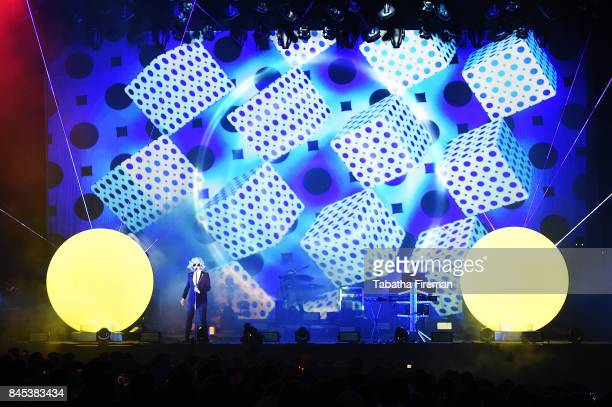 Chris Lowe and Neil Tennant of The Pet Shop Boys headline The Castle stage on Day 4 of Bestival at Lulworth Castle on September 10 2017 in Wareham...