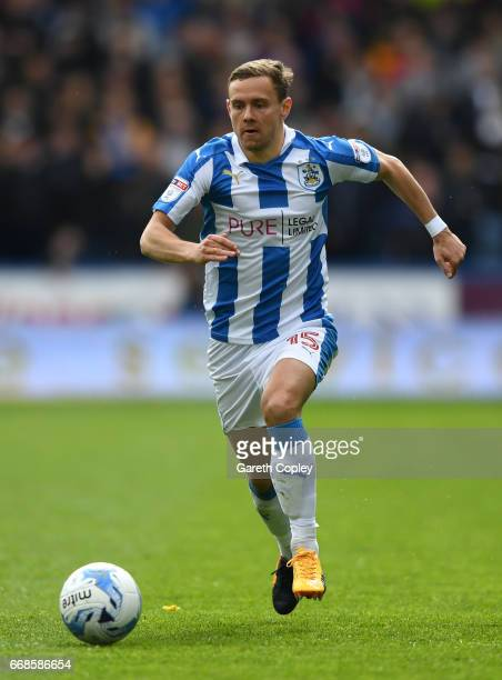 Chris Lowe of Huddersfield during the Sky Bet Championship match between Huddersfield Town and Preston North End at Galpharm Stadium on April 14 2017...