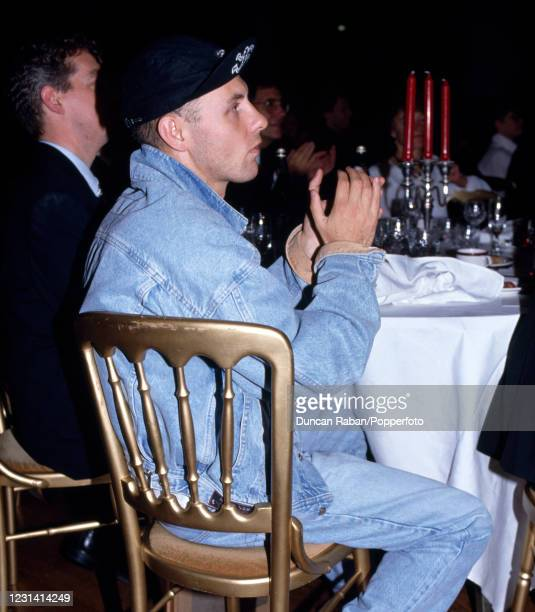 Chris Lowe of Pet Shop Boys attending the Brit Awards at the Grosvenor House Hotel in London, England on February 9, 1987.