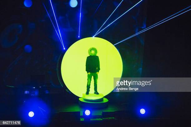 Chris Lowe of Pet Shop Boys performs at the First Direct Arena on February 18 2017 in Leeds United Kingdom
