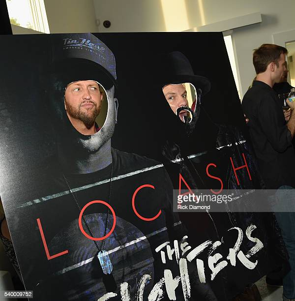 Chris Lucas and Preston Brust LOCASH 'The Fighters' Listening Party at White Avenue Studio on June 13 2016 in Nashville Tennessee