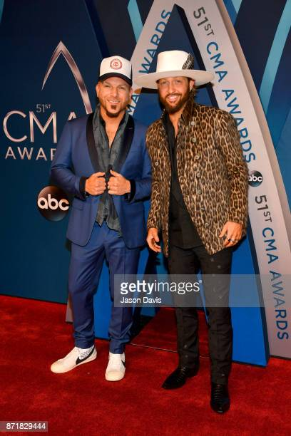 Chris Lucas and Preston Brust of LOCASH attend the 51st annual CMA Awards at the Bridgestone Arena on November 8 2017 in Nashville Tennessee