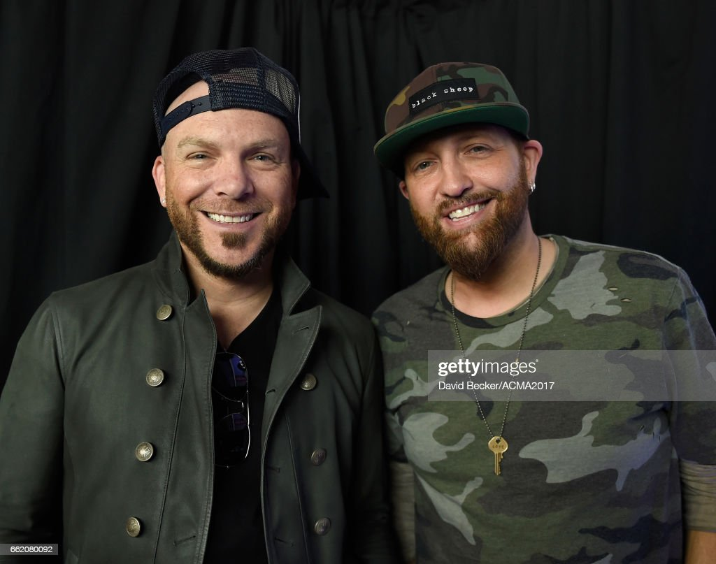 Chris Lucas (L) and Preston Brust of LOCASH attend the 52nd Academy Of Country Music Awards Cumulus/Westwood One Radio Remotes at T-Mobile Arena on March 31, 2017 in Las Vegas, Nevada.