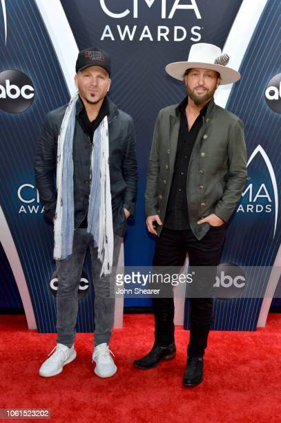 Chris Lucas and Preston Brust of LOCASH attend the 52nd annual CMA Awards at the Bridgestone Arena on November 14 2018 in Nashville Tennessee