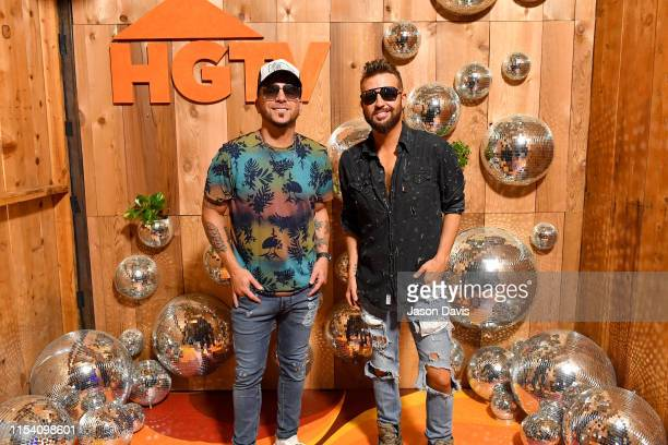 Chris Lucas and Preston Brust of LOCASH attend the HGTV Lodge at CMA Music Fest on June 06 2019 in Nashville Tennessee