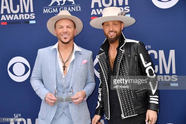 Chris Lucas and Preston Brust of LOCASH attends the 54th Academy Of Country Music Awards at MGM Grand Hotel Casino on April 07 2019 in Las Vegas...