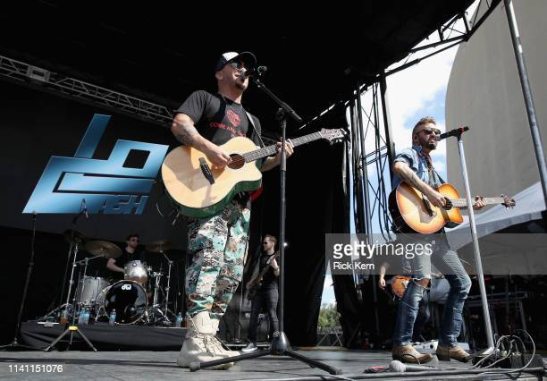 Chris Lucas and Preston Brust of LOCASH perform live during the Daytime Village at the 2019 iHeartCountry Festival Presented by Capital One at the...