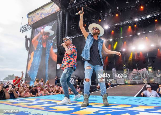Kix Brooks of Brooks and Dunn perform on day 2 of Faster Horses Festival at Michigan International Speedway on July 21 2018 in Brooklyn Michigan