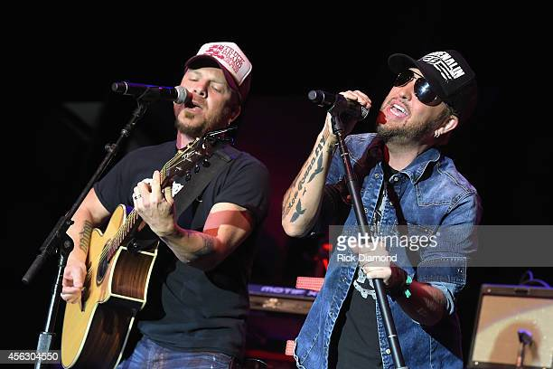 Chris Lucas and Preston Brust of the LoCash Cowboys perform onstage at the Paradigm Agency at the Paradigm Party during Day 2 of the IEBA 2014...