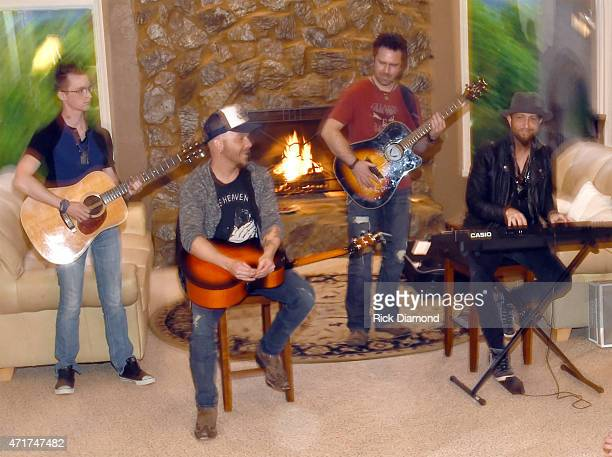 Chris Lucas and Preston Brust perform during their Shipwrecked signature wine tasting recepting on April 30 2015 in Brentwood Tennessee