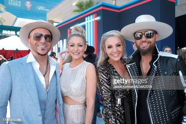 Chris Lucas of LOCASH, Kaitlyn Lucas, Kristen Brust, and Preston Brust of LOCASH attends the 54th Academy Of Country Music Awards at MGM Grand Hotel...