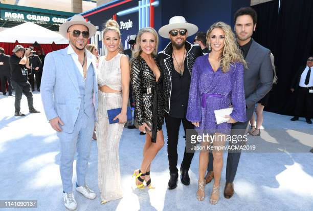Chris Lucas of LOCASH Kaitlyn Lucas Kristen Brust Preston Brust of LOCASH Kasi Williams and Chuck Wicks attend the 54th Academy Of Country Music...