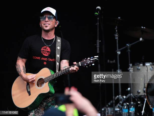 Chris Lucas of LOCASH performs live during the Daytime Village at the 2019 iHeartCountry Festival Presented by Capital One at the Frank Erwin Center...