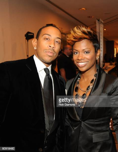 """Chris """"Ludacris"""" Bridges and Real Housewives of Atlanta Kandi Burruss at An Evening of Respect presented by The Big 'O' Foundation at The Woodruff..."""