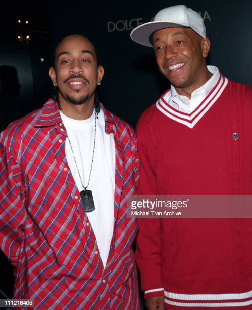 Chris Ludacris Bridges and Russell Simmons during Harry Winston Celebrates the Opening of Their New Beverly Hills Flagship Store at Harry Winston in...