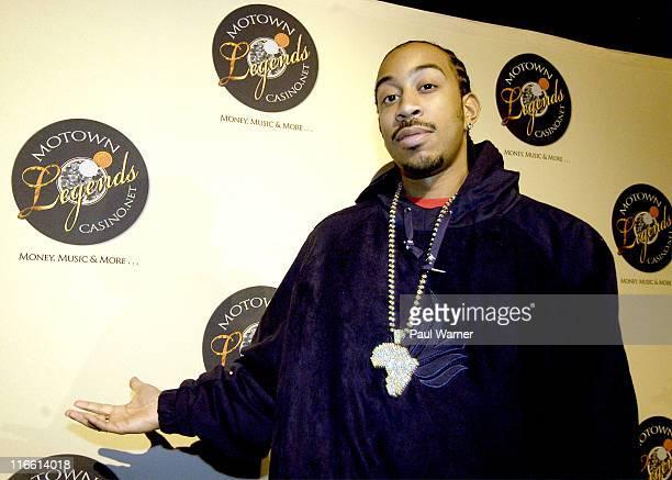 Chris 'Ludacris' Bridges during Super Bowl XL PreSuper Bowl Event for Euro RSCG Motown Music Fest February 4 2006 at Masonic Temple in Detroit...
