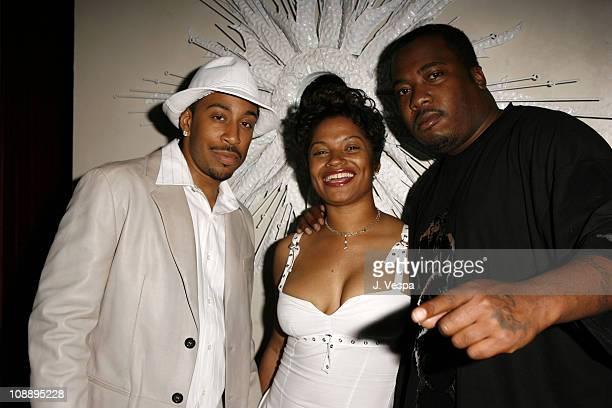 Chris Ludacris Bridges Kittie and Poon Daddy during Vanity Fair Presents the 2006 Svedka Erotica Reading Series at Shag in Los Angeles California...