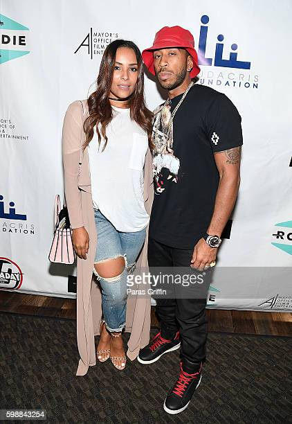Chris 'Ludacris' Bridges with wife Eudoxie Bridges attend LudaDay Weekend Celebrity Bowling Tournament at Bowlmor Lanes on September 2 2016 in...