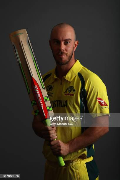 Chris Lynn of Australia poses during a portrait session ahead of the ICC Champions Trophy at the Royal Garden Hotel on May 24 2017 in London England