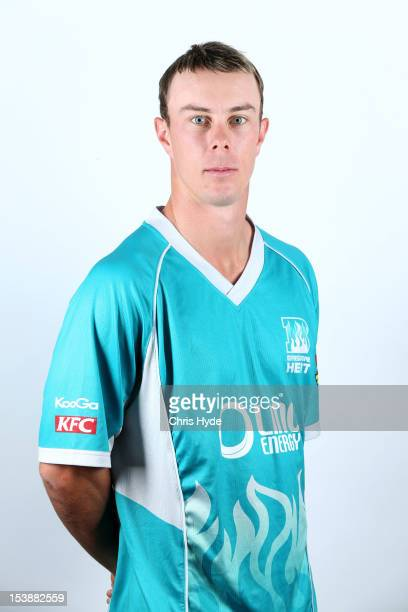 Chris Lynn of the Brisbane Heat poses during the 2012/13 T20 Big Bash League headshots session at Allan Border Field on September 25 2012 in Brisbane...