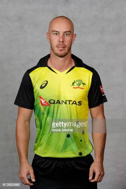 Chris Lynn poses during the Australian International Twenty20 headshots session at Sydney Cricket Ground on February 1 2018 in Sydney Australia