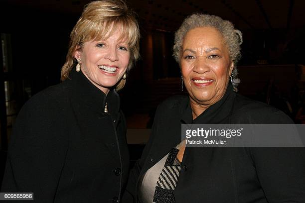 Chris Madden and Toni Morrison attend New York City Opera opens its Fall Season with the New York Premiere of Margaret Garner at New York State...