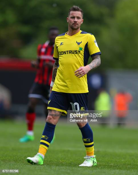 Chris Maguire of Oxford United during the Sky Bet League One match between Oxford United and Shrewsbury Town at Kassam Stadium on April 30 2017 in...