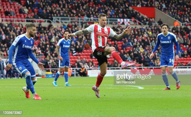 Chris Maguire of Sunderland during the Sky Bet League One match between Sunderland and Gillingham at Stadium of Light on March 7, 2020 in Sunderland,...