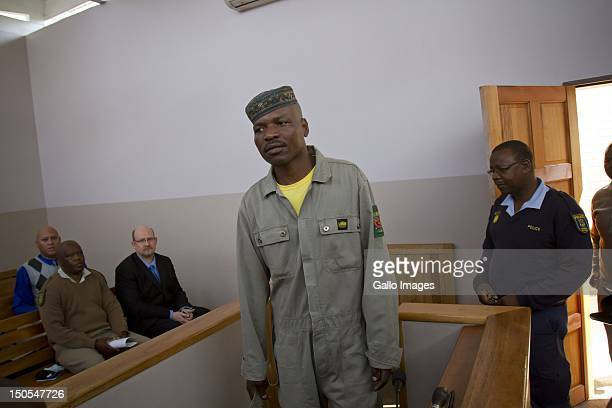 Chris Mahlangu appears in court in connection with the murder of AWB Leader Eugene Terre'Blanche on August 20 2012 in Ventersdorp South Africa...
