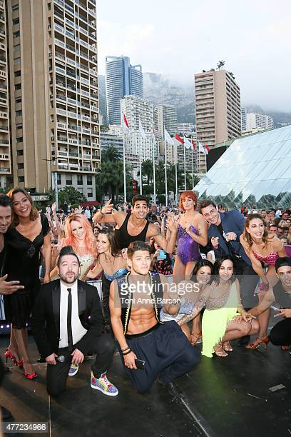 Chris Marques Alizee Rayane Bensetti and casts members perform for Dance Avec Les Stars at the Grimaldi Forum on June 14 2015 in MonteCarlo Monaco
