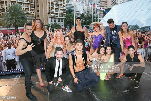 Chris Marques Alizee Rayane Bensetti and casts members perform for 'Dance Avec Les Stars' at the Grimaldi Forum on June 14 2015 in MonteCarlo Monaco