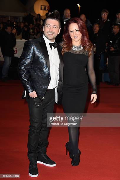 Chris Marques and Jaclyn Spencer attend the NRJ Music Awards at Palais des Festivals on December 13 2014 in Cannes France