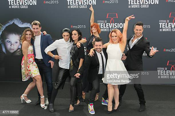 Chris Marques and the cast attend photocall forDance with the Stars at the Grimaldi Forum on June 14 2015 in MonteCarlo Monaco