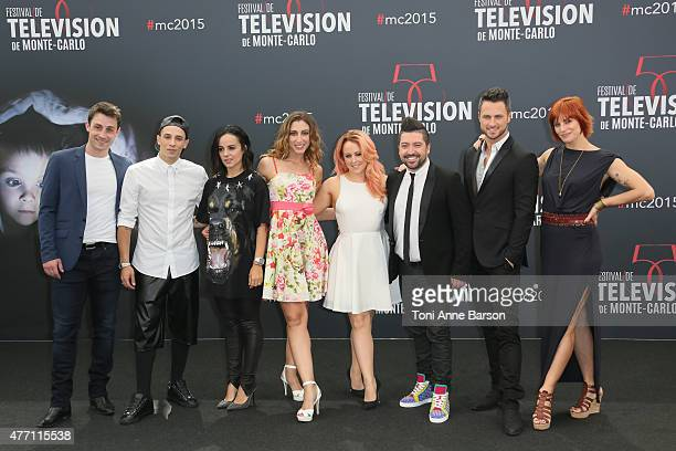 Chris Marques and the cast attend photocall for'Dance with the Stars' at the Grimaldi Forum on June 14 2015 in MonteCarlo Monaco