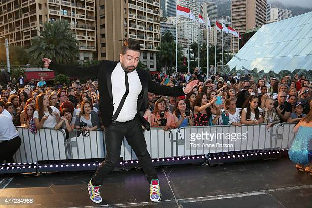 Chris Marques performs for Dance Avec Les Stars at the Grimaldi Forum on June 14 2015 in MonteCarlo Monaco