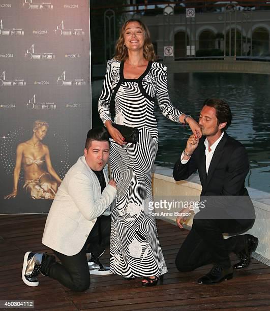 Chris Marques Sandrine Quetier and Vincent Cerutti attend Gala at the Monte Carlo Beach Hotel on June 8 2014 in MonteCarlo Monaco