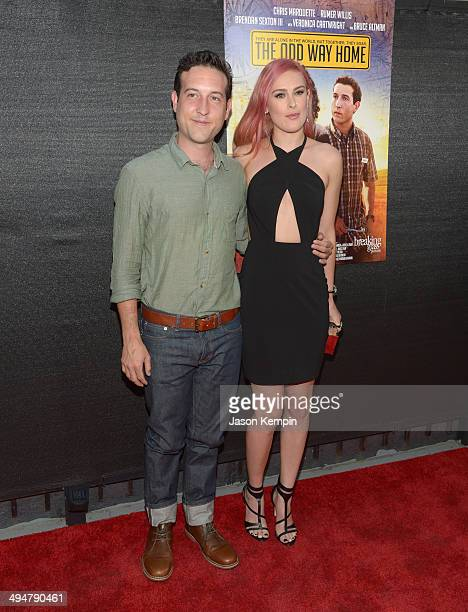Chris Marquette and Rumer Willis attend the premiere of The Odd Way Home at the Arena Cinema Hollywood on May 30 2014 in Hollywood California