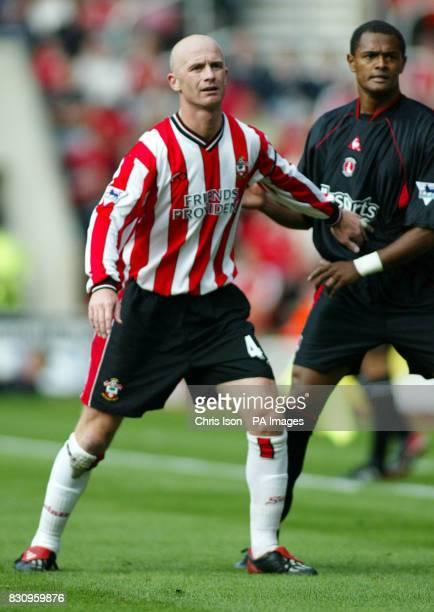 Chris Marsden of Southampton in action against Charlton during their Barclaycard Premiership encounter at St Mary's Stadium in Southampton THIS...