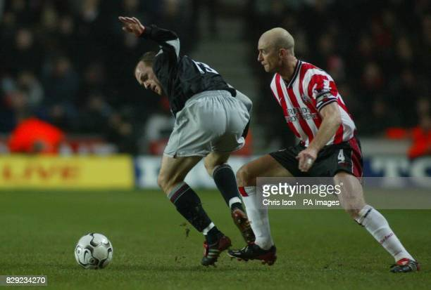 Chris Marsden of Southampton in action against Danny Murphy of Liverpool during their Barclaycard Premiership match at the St Mary's ground THIS...