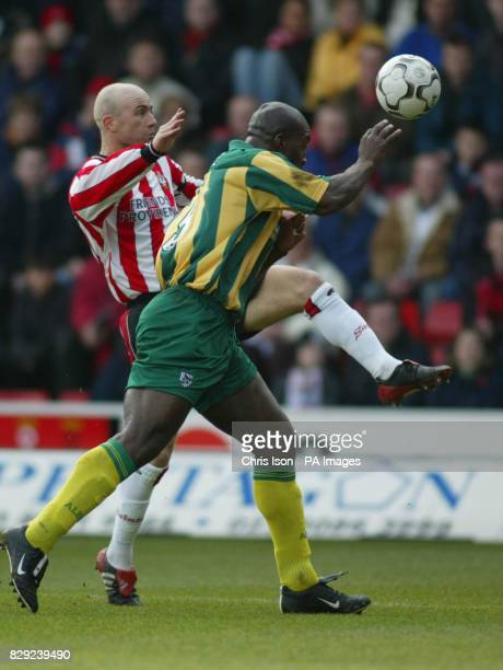 Chris Marsden of Southampton in action against Darren Moore of West Bromwich Albion during the FA Barclaycard Premiership match at St Mary's Stadium...